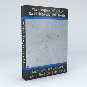 Washington DC Road Network Architectural 3D Model