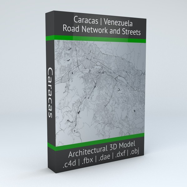 Caracas Road Network and Streets Architectural 3D model