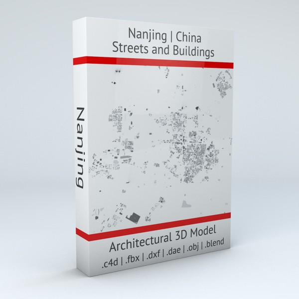 Nanjing Streets and Buildings 3D model