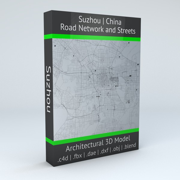 Suzhou Road Network and Streets 3D model
