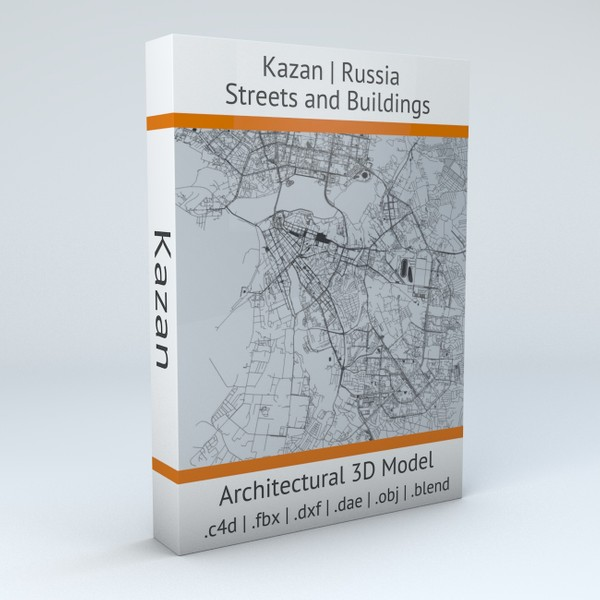 Kazan Streets and Buildings Architectural 3D model