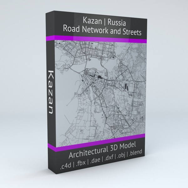 Kazan Road Network and Streets Architectural 3D model