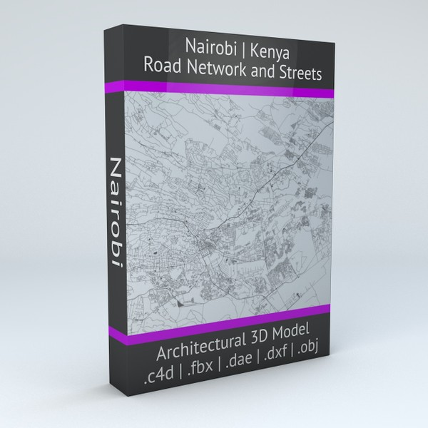 Nairobi Road Network and Streets Architectural 3D model
