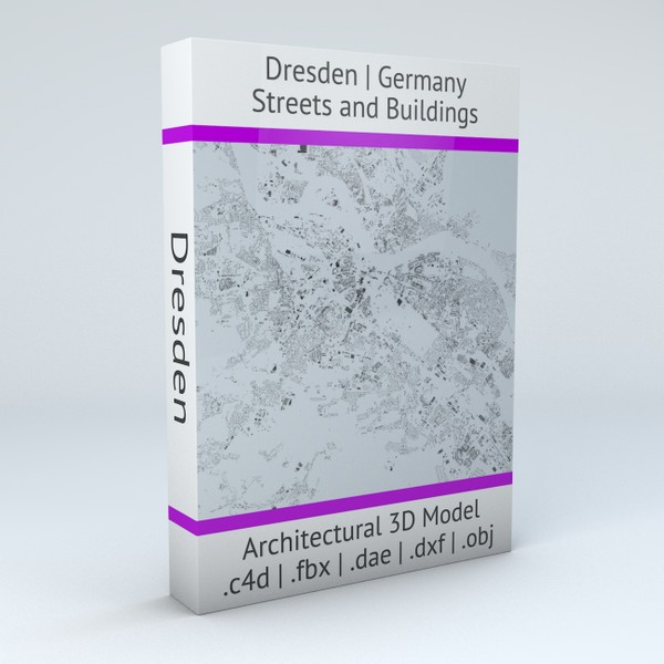 Dresden Streets and Buildings Architectural 3D model