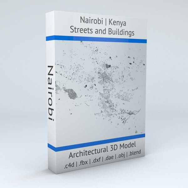 Nairobi Streets and Buildings Architectural 3D model