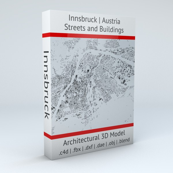 Innsbruck Streets and Buildings Architectural 3D model