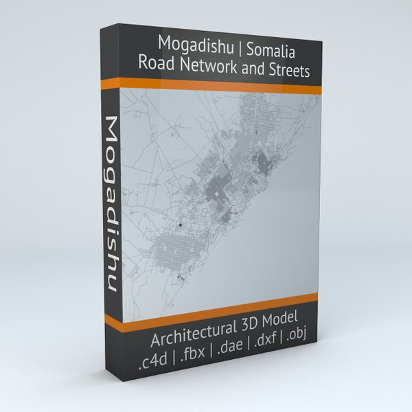 Mogadishu Road Network and Streets Architectural 3D model