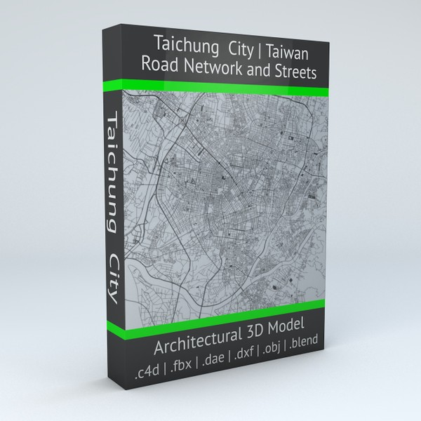 Taichung City Road Network and Streets 3D model