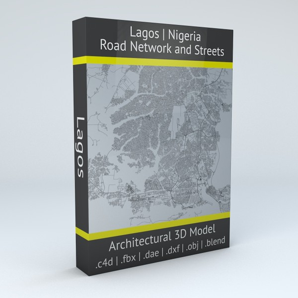 Lagos Road Network and Streets Architectural 3D model