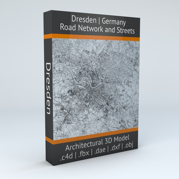 Dresden Road Network and Streets Architectural 3D model