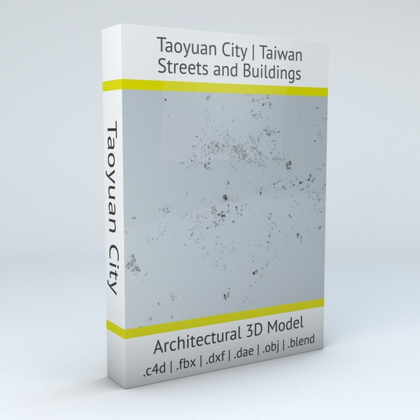 Taoyuan City Streets and Buildings 3D model