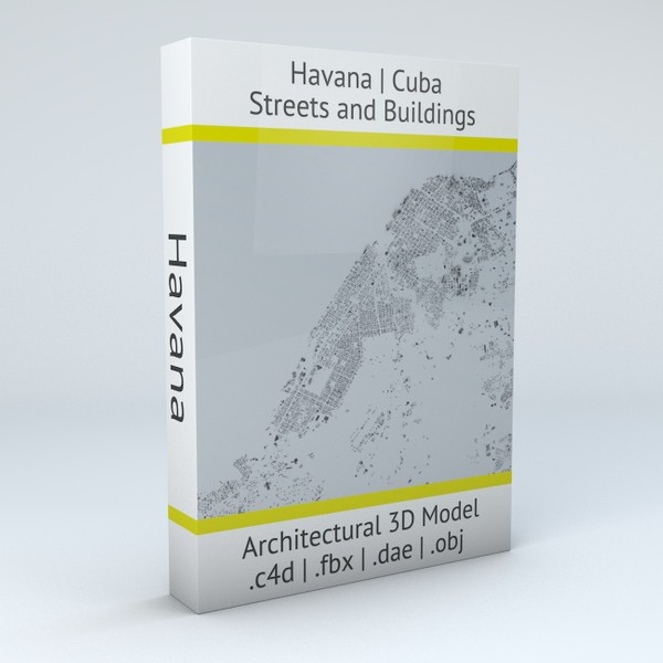Havana Streets and Buildings Architectural 3D Model