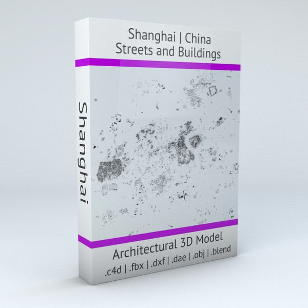 Shanghai Streets and Buildings 3D model