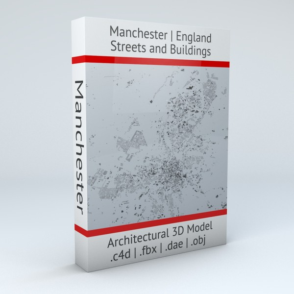 Manchester Streets and Buildings Architectural 3D Model