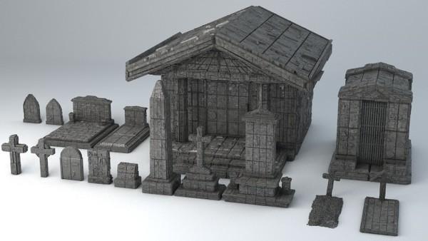 Sci-Fi Shapes - The Necropolis 3D model