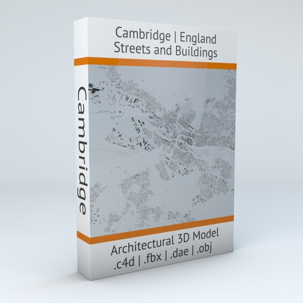 Cambridge Streets and Buildings Architectural 3D Model