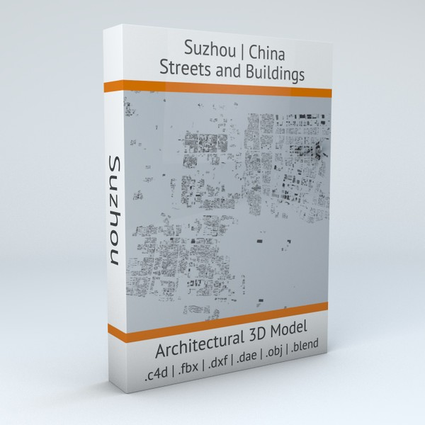 Suzhou Streets and Buildings 3D model