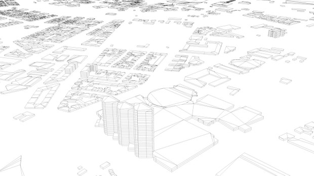 Gothenburg Streets and Buildings Architectural 3D Model