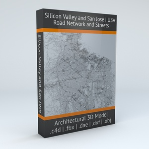 Silicon Valley and San Jose Road Network Architectural 3D Model