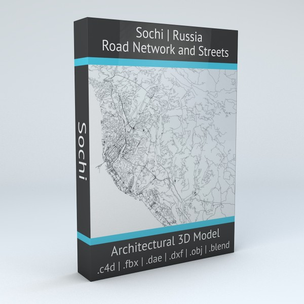 Sochi Road Network and Streets Architectural 3D model