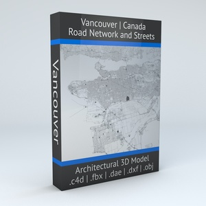 Vancouver Road Network Architectural 3D Model