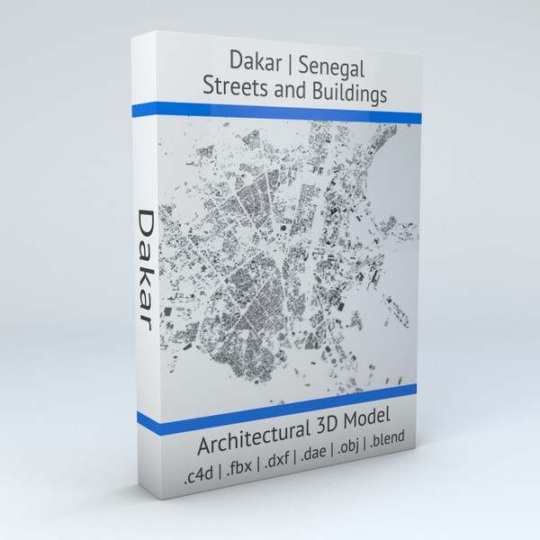 Dakar Streets and Buildings Architectural 3D model