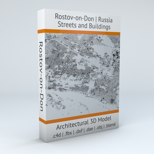 Rostov on Don Streets and Buildings Architectural 3D model