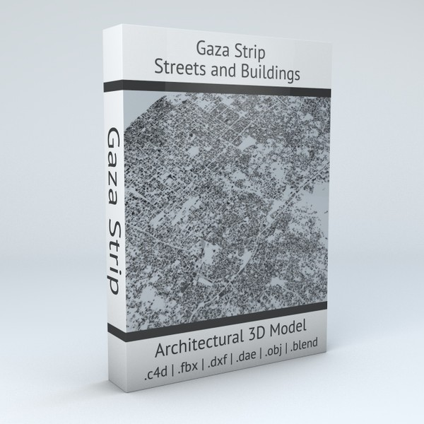 Gaza Strip Streets and Buildings Architectural 3D model