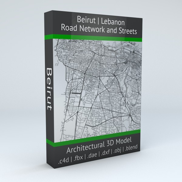 Beirut Road Network and Streets Architectural 3D model