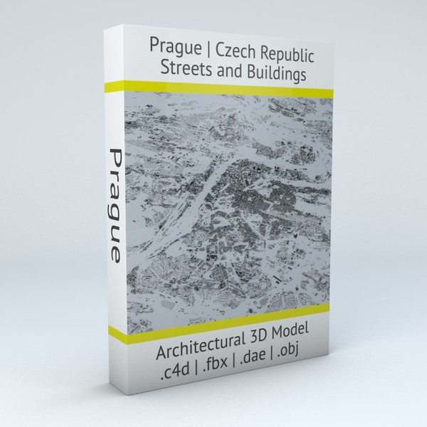 Prague Streets and Buildings Architectural 3D Model