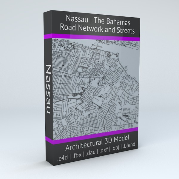 Nassau Road Network and Streets Architectural 3D model
