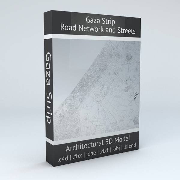 Gaza Strip Road Network and Streets Architectural 3D model