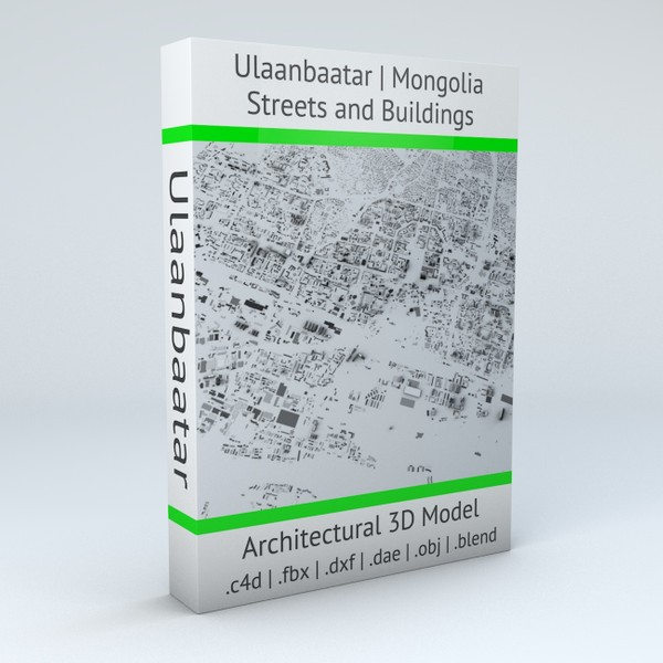 Ulaanbaatar Streets and Buildings Architectural 3D model