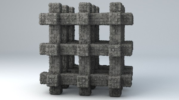 Sci-Fi Shapes - The Grid 3D model