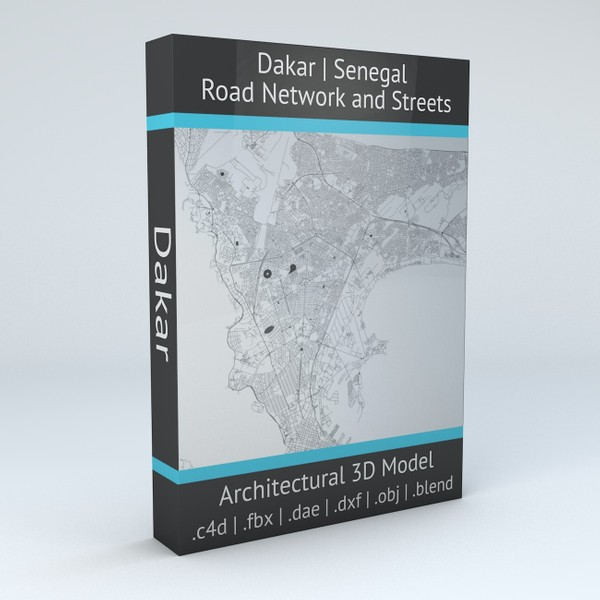 Dakar Road Network and Streets Architectural 3D model