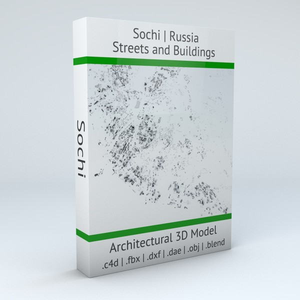 Sochi Streets and Buildings Architectural 3D model