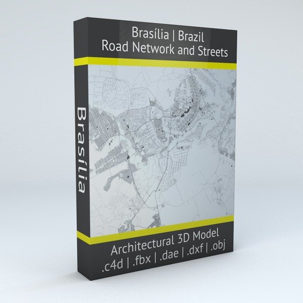 Brasilia Road Network and Streets Architectural 3D model