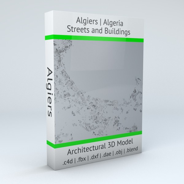 Algiers Streets and Buildings Architectural 3D model