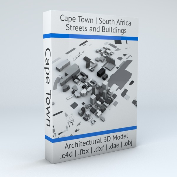 Cape Town Streets and Buildings Architectural 3D model