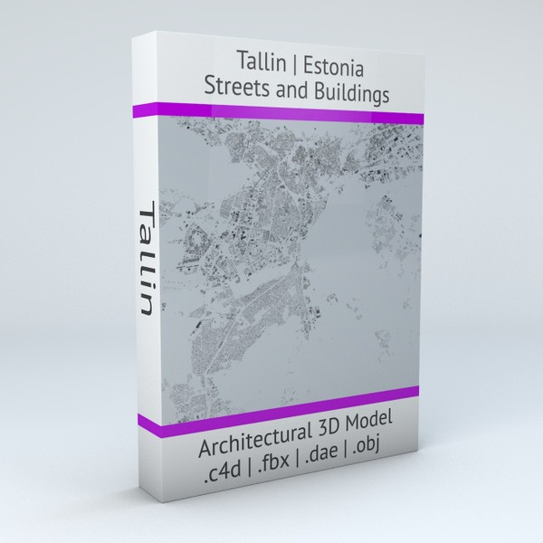 Tallinn Streets and Buildings Architectural 3D Model