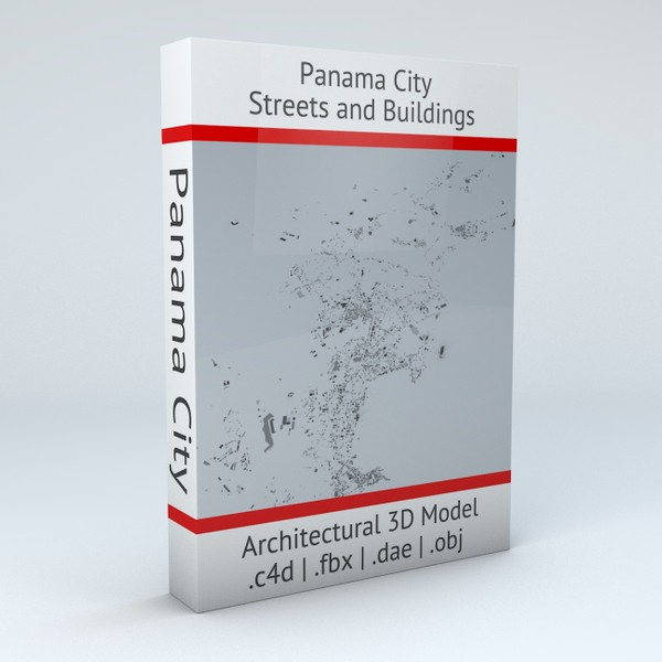 Panama City Streets and Buildings Architectural 3D Model