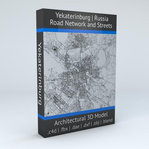 Yekaterinburg Road Network and Streets Architectural 3D model