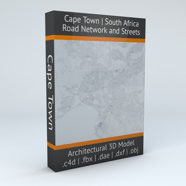 Cape Town Road Network and Streets Architectural 3D model