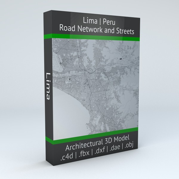Lima Road Network and Streets Architectural 3D model
