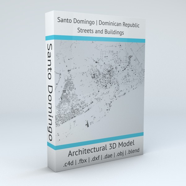 Santo Domingo Streets and Buildings Architectural 3D model