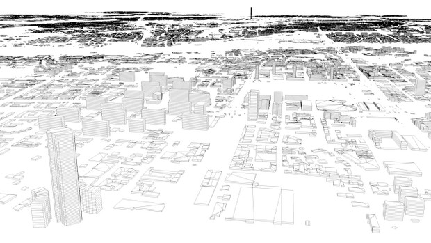 Warsaw Streets and Buildings Architectural 3D Model