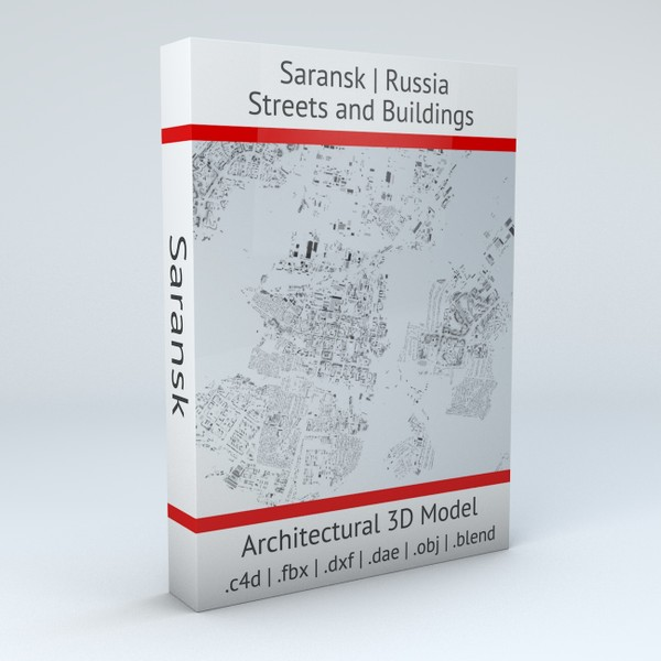 Saransk Streets and Buildings Architectural 3D model