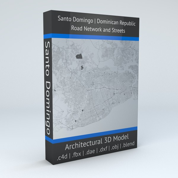 Santo Domingo Road Network and Streets Architectural 3D model