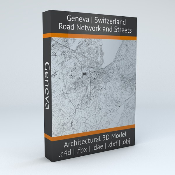 Geneva Road Network and Streets Architectural 3D model