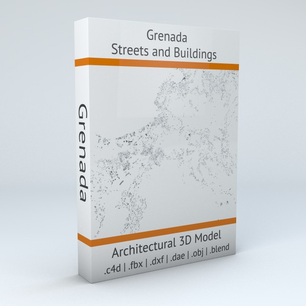 Grenada Streets and Buildings Architectural 3D model